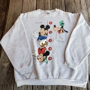 Vtg 90s Disney Crewneck Sweater Size XL